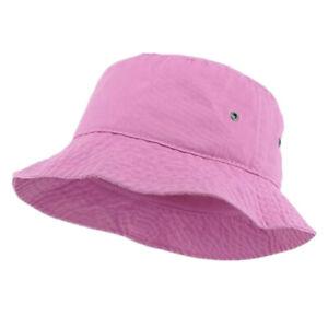 Unisex Summer Fishing Bucket Hat Cap Cotton Boonie Brim visor Sun Safari Camping