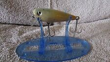 """Vintage Shakespeare Glo-Lite Pup Fishing Lure-2 1/2""""-Blue/Yellow   (J 1)"""