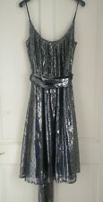 french connection metallic silver  dress 14