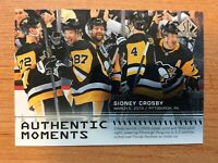 UD SP AUTHENTIC 2019-2020 SIDNEY CROSBY AUTHENTIC MOMENTS CARD #102