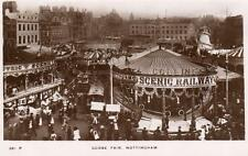 More details for goose fair fairground scenic railway nottingham rp pc used 1913 clumber ref a67