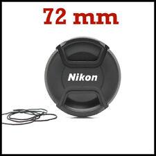 TAPA DELANTERA OBJETIVO 72mm NIKON CON PINZA CENTRAL, REFLEX DSLR