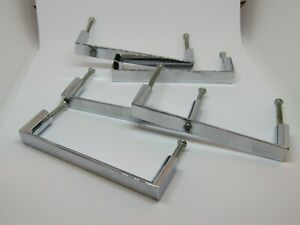 """Set of 5 Contemporary Chrome Furniture Handle Brand New - Dimensions 4"""" - 10cm"""