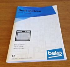 Genuine BEKO BXIE25300XP & BIE26300XP Oven Instruction Manual User Guide