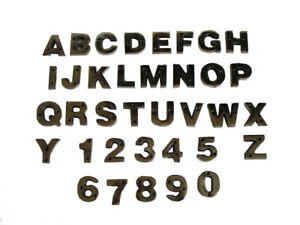 BRASS Letters / Letter - HOUSE DOOR Sign - SOLID - Capital Alphabet - NUMBER