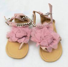 Women Lady Slipper Pearl Decor Flip Flops Summer Beach Flats Casual Sandal Shoes
