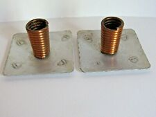Vintage Arts And Crafts Handcrafted Copper Twist Acorn Stamped Candle Holders