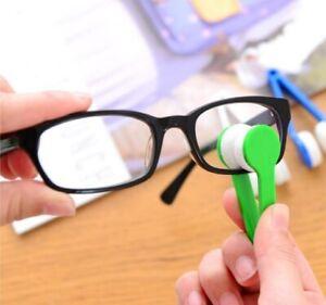 4 Colors Mini Microfiber Two-side Sunglasses Brush Eyeglass Cleaner Cute Brush