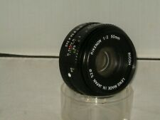 Ricoh Rikenon 50mm f2  Vintage Std Lens  PK Mount Fit