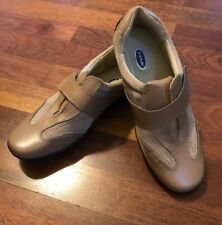 Women's DR SCHOLLS Tan Leather Slip-On Shoes Sneakers Double Air Pillows 6 M