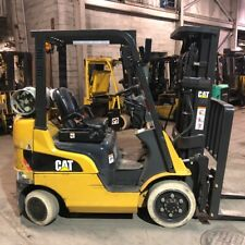 2014 Cat 4000lbs Lp Gas Used Forklift Triple Mast Sideshift 4383 Hours