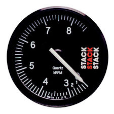 Stack ST400 80mm Rally Recording Tachometer Black Dial 0-3 8500 RPM Rev Range