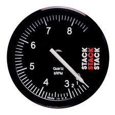 Stack ST400 80mm RALLY registrazione CONTAGIRI QUADRANTE NERO 0-3 8500 rpm REV gamma