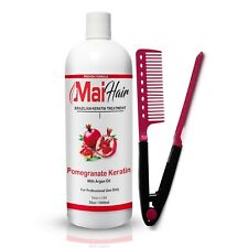 Mai Hair Brazilian Keratin Treatment Professional Blowout 32oz 1000ml Free Comb