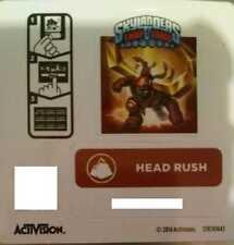 Head Rush Skylanders Trap Team Sticker / Code Only!