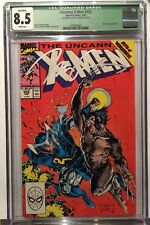 Uncanny X-Men #258 - Signed by JIM LEE (Bold Signature) - CGC 8.5- White pages!