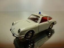 SCHUCO 813 PORSCHE 911S - POLIZEI POLICE - WHITE 1:66 - GOOD CONDITION