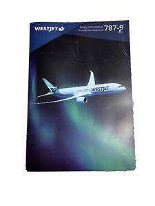 Westjet 787-9 Safety Card