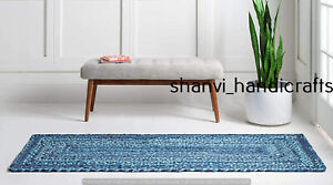 Indian Cotton Braided Runner Rugs Reversible Modern Living Area 80x360 CM Rugs