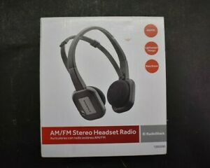 RadioShack Lightweight Sport AM/FM Stereo Headset Radio 1200590 Over Ear