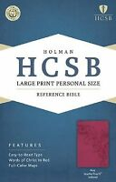 HCSB Large Print Personal Size Bible, Pink LeatherTouch Indexed .. NEW