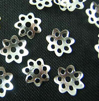 Wholesale 500pcs Silver Plated Bead Caps DIY Jewerly Findings 7mm