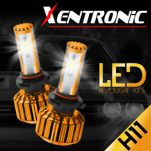 2X COB H11 488W 48800LM LED Headlight Kit Low Beam High Power Bulbs 6500K White