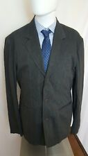 Guess Jeans gray striped cotton blend sport coat size XL