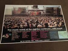 1983 Us Festival Concert Poster Van Halen Clash Bowie U2 Ozzy Motley Crue Inxs