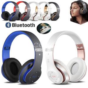 Wireless Bluetooth 5.1 Headphones Noise Cancelling Over-Ear Stereo Earphones UK