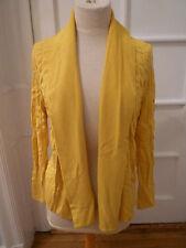 NWT: LAFAYETTE 148 Textured Canary Yellow Long Sleeve Open Cardigan, Medium