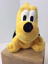 Disney Store Soft Bobble Head Wobbly Mickey Pluto Dog 6in Plush Stuffed Animal