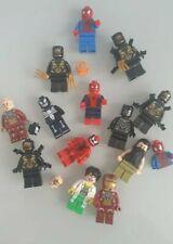 Lego Marvel Super Heroes Minifigures Lot. Ironman Spiderman Black Panther