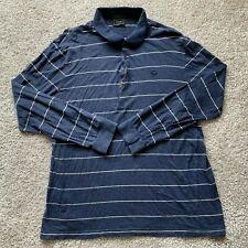 Lacoste Men's Long Sleeve Henley T-Shirt Size 5 Blue White Striped Wool Blend