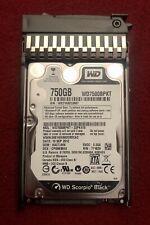"WD 750GB 7200RPM 3Gbps SATA 2.5"" HARD DRIVE WD7500BPKT with Server Bracket"