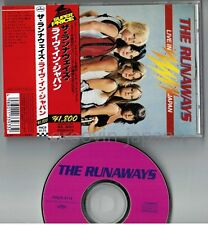 THE RUNAWAYS Live In Japan JAPAN CD PHCR-4175 w/OBI+PS BOOKLET Cherie Currie