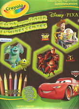 Crayola Disney Pixar Glow in the Dark 24 Maxi Coloring Pages Nontoxic Great Gift