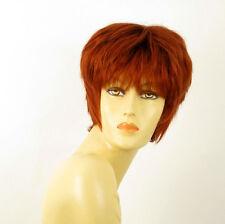 perruque femme 100% cheveux naturel courte cuivré intense ref ESTELLE 130