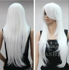 Belle blanche longue perruquescosplay wig+hairnet