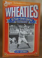 Lou Gehrig Wheaties Box 60 Years of Sports Heritage Collectors Edition
