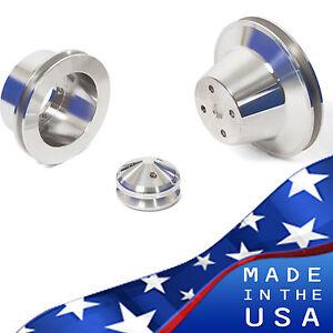 Billet Aluminum Pulley Kit 318 340 360 V-Belt Mopar