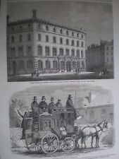 Auction rooms Debenham & Storr Covent garden and De Tivoli London omnibus 1860