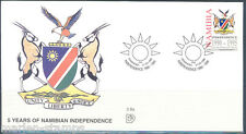 Namibia 5th Anniversary Of Independence First Day Cover