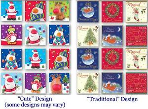 Christmas Labels - Pack of 24 Hand Crafted Gift Tags - Traditional OR Cute