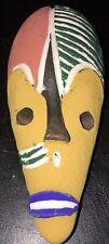 Masque Réduit Terre Cuite Afrique Ethnique Cameroun Bamileké Pigments Naturels