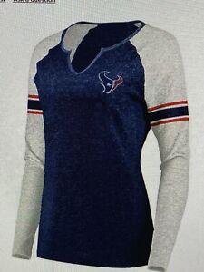 Houston Texans NFL Women's Plus Size Raglan Long Sleeve Shirt Size 2X - NWT