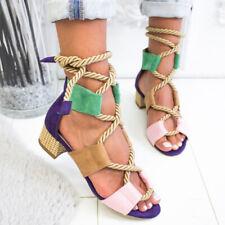 Модные летние женские сандалии женские на шнуровке пляжная обувь на танкетке сандалии