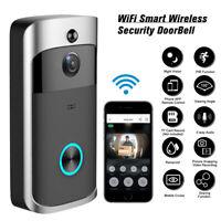 Wireless Smart WiFi Door Bell IR Video Visual Camera Intercom Home Security USA