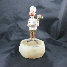 "Vintage Ron Lee ""Clown Chef"" Figurine Hand-Painted Signed/Numbered/Dated on Base"