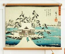 Antique Japanese Art Poster Print, Ukiyo E Woodblock print reproduction